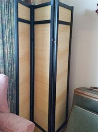 "Wood & Wicker Room Divider 70""H"