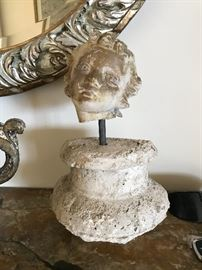 Architectural remnant, Putto and base