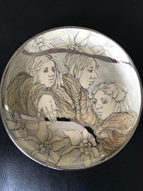 Higgins Pottery, signed pair of plates