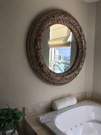 Large modern burnished/gilt mirror