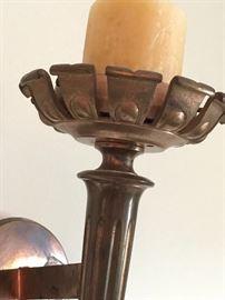 Detail,  Greco-Roman copper sconce