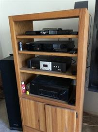 Electronica cabinet filled
