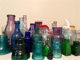 Lots of Antique Bottles & Insulators