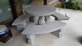 Cement Patio Set