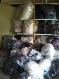 Wide variety of fleeces, washed fleeces, colored wool roving, white wool roving, dyed wool roving.