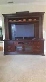 Only the entertainment center is available the TV is not for sale