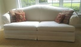 White pull out sofa $100