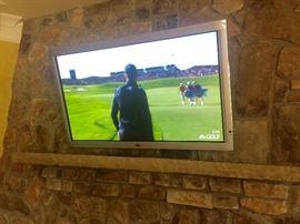 "50"" flat screen wall-mount TV"