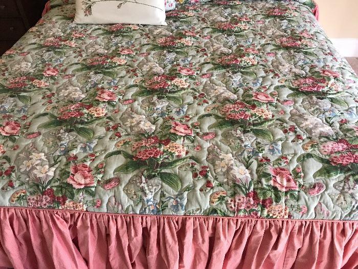 Custom made king size bedspread