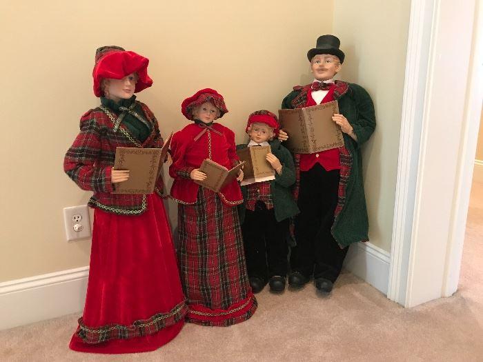 family of Carolers, 3 feet tall