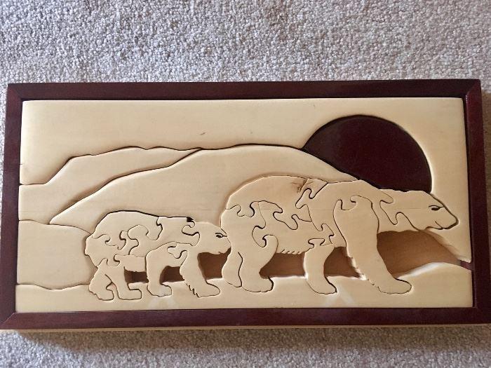Handmade wood puzzle