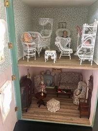 Dollhouse and furnishings