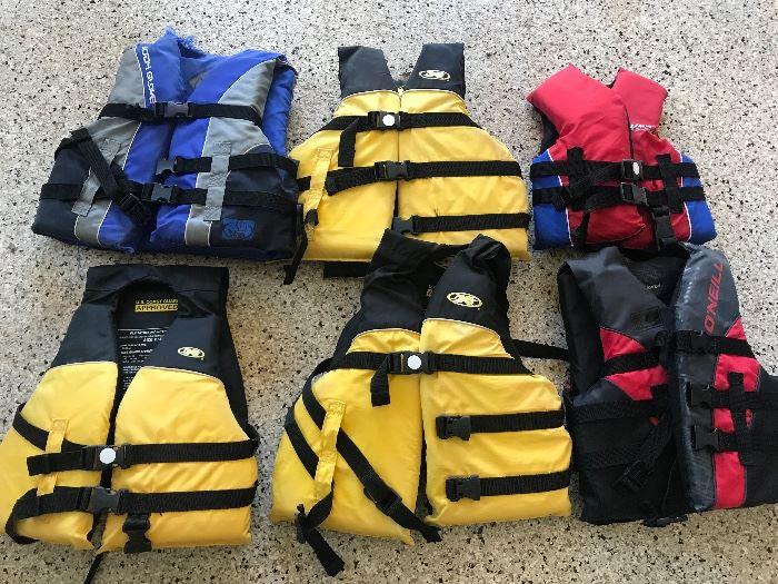 Child size life vests