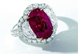 LOT869 Pigeon Blood Ruby Ring