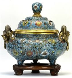 LOT 352 Cloisonne Incense Burner