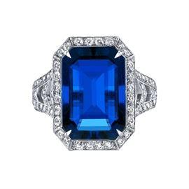 LOT765 SAPPHIRE  DIAMOND RING