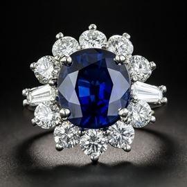 LOT861 AUSTRALIAN SAPPHIRE  DIAMOND RING