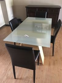 Dining Table w/4 chairs (priced separately)