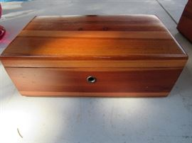 large and small cedar chests