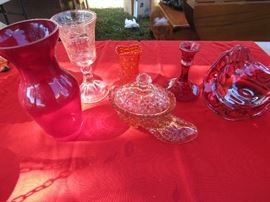 These are just a few pieces from a HUGE collection of fine colorful depression glass