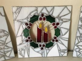 Christmas themed stained glass