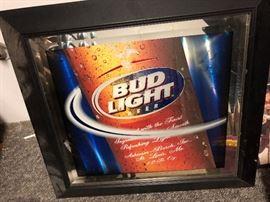 Bud light mirror