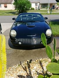 Clean on Car Fax..2002 Thunderbird with 73,000 miles and a car cover. Taking bids !! Text 3219611691 and leave name, bid & phone #