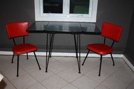 Mid Century Table with 4 Chairs