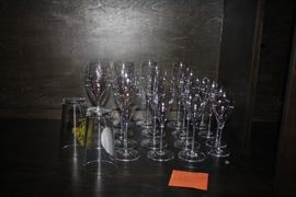 Baccarat Wine Goblets and Flutes