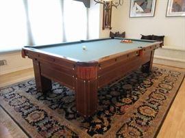 STUNNING ANTIQUE BRUNSWICK MONROE POOL TABLE