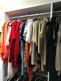 mostly St. John's suits and dresses and tops