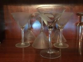 Crystal and bar ware - LOTS to choose from.