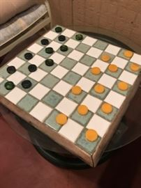 vintage checker board (goes with game table and chairs in previous two pictures)