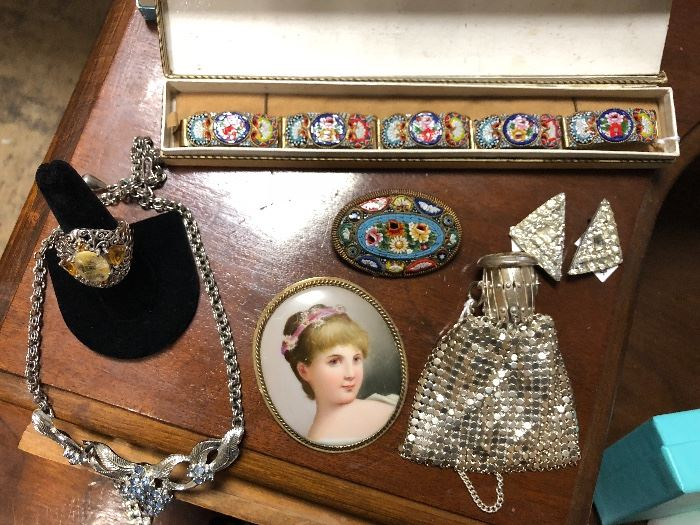 Many lovely vintage and antique pieces