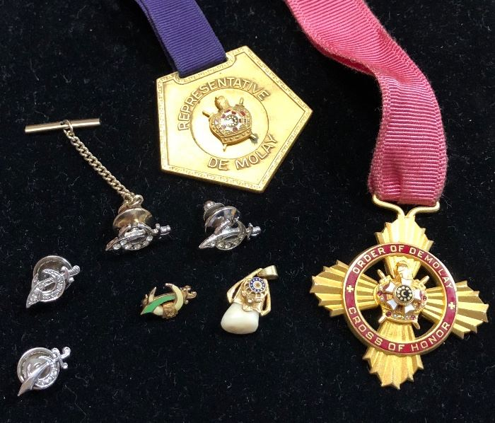 A large selection of fraternal pieces