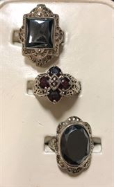 Very large collection of sterling rings