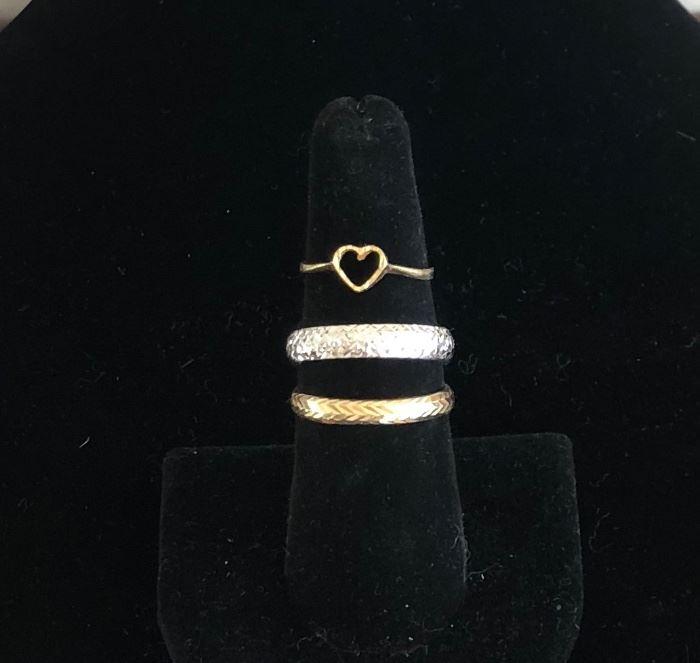 Many 14kt Gold Rings