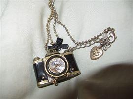 Betsy Johnson camera necklace
