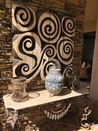 this wall art originally by Steve Jansen cost several thousand dollars quite a statement piece !
