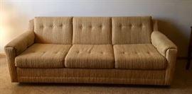 1970's Vintage Gold Sleeper Sofa