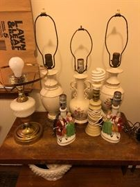 Antique and vintage lamps.