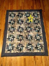Blue Pinwheel Quilt