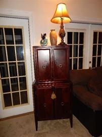 Vintage vertical bar & liquor cabinet