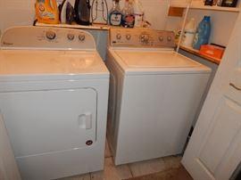 Whirlpool dryer. Maytag washer