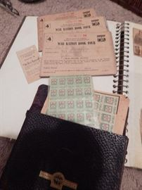 War Ration Books.  S&H Green Stamps