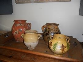 Antique french urns