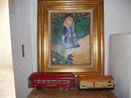 Renoir with trains
