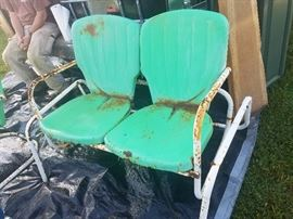 Two piece Old timey glider with chair