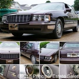 EXCELLENT CONDITION 1997 CADILLAC DEVILLE 4 DOOR SEDAN - 4.6L V8, F DOHC 32V, UNDER 60,000 MILES, FRONT WHEEL DRIVE, TUXEDO EDITION (ask to see the Carfax)!   Did I say it has 58,000 miles??  It's like getting a brand new car!