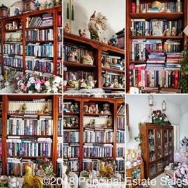 This sale has a better selection of books than your local library.  Many 1st edition hard covers!!  Also, those bookshelves are STELLAR!